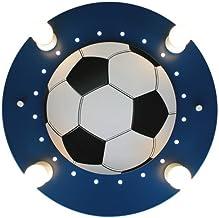 Elobra lampa sufitowa piłka nożna, ciemnoniebieska / biała 127766