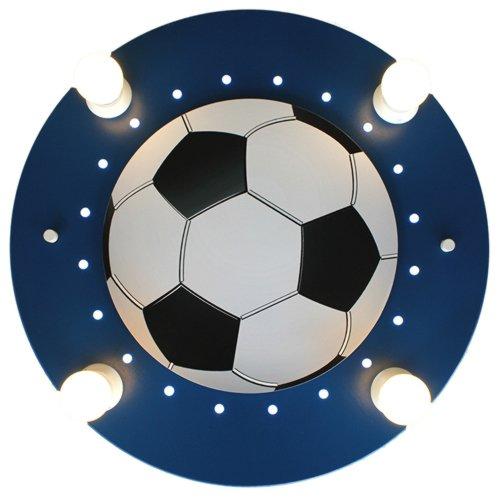 Elobra Deckenlampe Fußball Fußballlampe Kinderzimmer Wandlampe Kinderlampe, mit E14 Fassung, dunkelblau Deckenleuchte