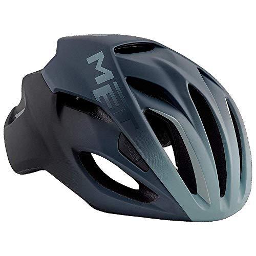 Met Casco RIVALE M(54-58) Ciclismo, Adultos Unisex, Azul (Azul Sombra)