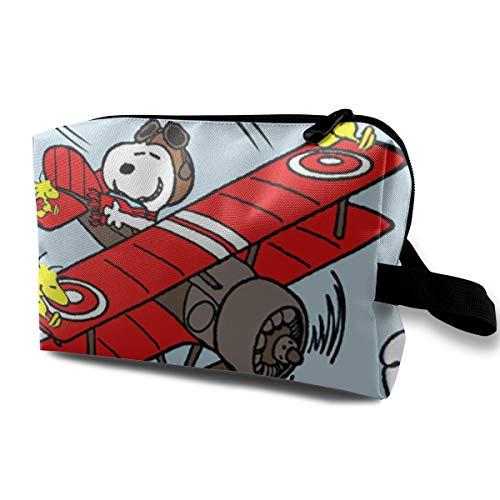 Snoopy-Sky - Neceser de Viaje con Cremallera, para cosméticos, para Mujer, portátil, Organizador de Almacenamiento Diario