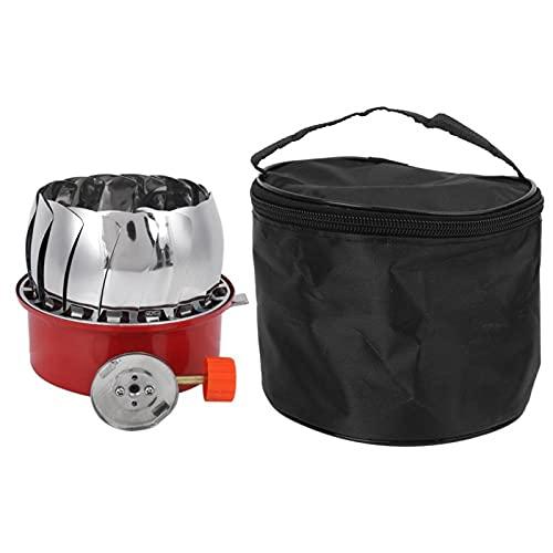 DFKEA Estufa de Gas de Casete de Tanque de Gas Largo para Barbacoa de Camping-Estufa de Casete de Tanque de Gas Largo a Prueba de Viento al Aire Libre Lotos para Barbacoa de Camping