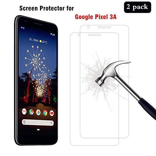 AHABIPERS [2 Stück Schutzfolie für Google Pixel 3A Panzerglas, HD Bildschirmschutzfolie, 9H Härte Schutzfolie, [Anti-Kratzer/Bläschen/Fingerabdruck/Staub] Panzerglasfolie für Pixel 3A