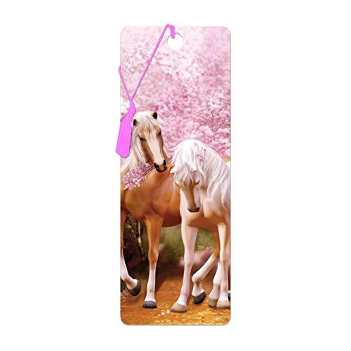 3D LiveLife Lesezeichen - Frühlingsliebe von Deluxebase. Ein Lesezeichen für Pferde mit linsenförmigen 3D-Kunstwerken, lizenziert von der bekannten Künstlerin Carol Cavalaris