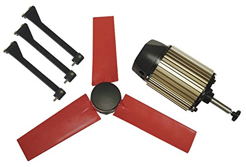 """Multifan 22"""" Corrosion Resistant Exhaust Fan Kit, Number of Blades 5, 1 Phase, Motor RPM 1580-7HX89"""