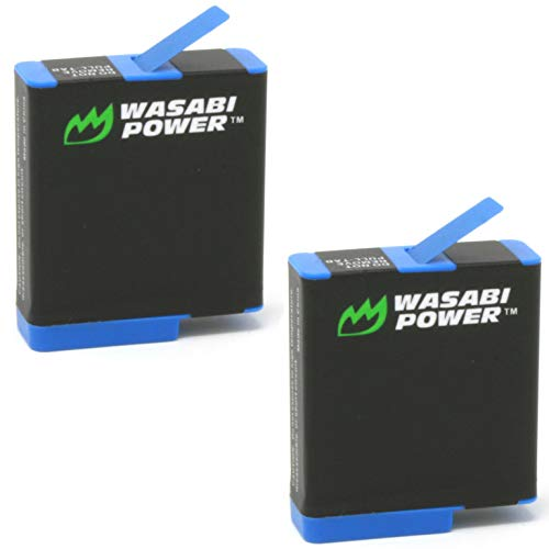 Wasabi Power Battery (2-Pack) for GoPro HERO8 Black (All Features Available), HERO7 Black, HERO6 Black, HERO5 Black, Hero 2018, Fully Compatible with Original