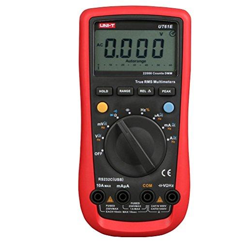 UKCOCO UT61E Multímetro digital profesional de AC/DC Medidor de alta precisión Medidor de amperaje de rango automático Medidor de voltaje 11999 Cuenta retención de datos (batería no incluida)