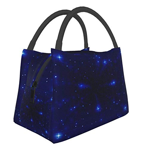 Insulated Lunch Bag Lunch Box Cooler Tote Box Cooler Bag Lunch Container Spectacular Night Sky Water-Resistant Thermal Leak-Proof Lunchbox for Work Picnic
