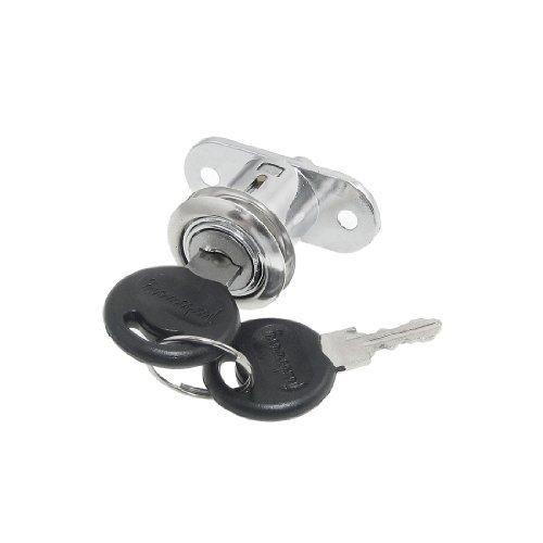 DealMux Porta Hardware gaveta do armário quarto de volta Cam Lock com 2 chaves