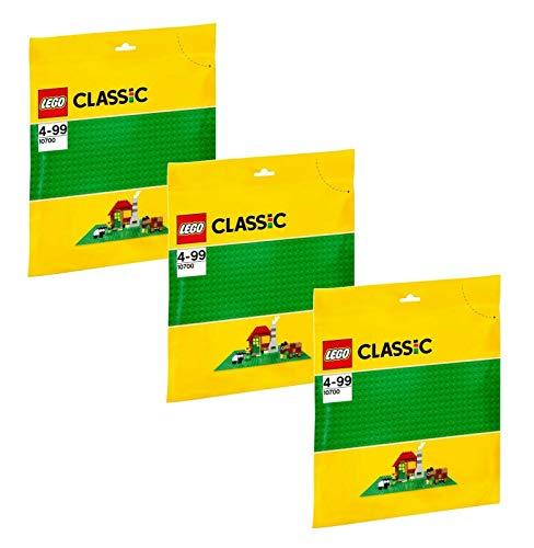 LEGO Juego de 3: 10700 placas verdes.