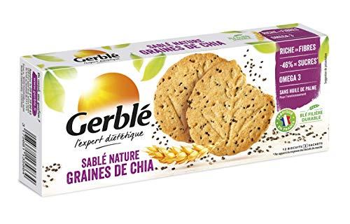 Gerblé Sablés Nature aux Graines de Chia 132 g