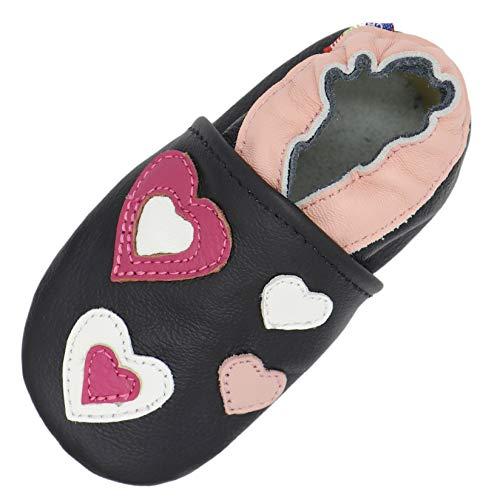 Carozoo Pink Hearts Black 3-4y