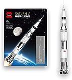 Icuanuty Space Rocket 445 Piezas Rocket Saturno V Modell Construction Set para niños Adultos