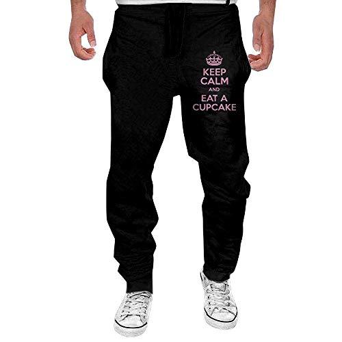 Herren Jogging Hose Jogger Streetwear Sporthose,Keep Calm and Eat Cupcake