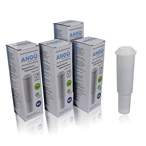 4x Wasserfilterpatronen ersetzen Jura Claris White 60209 / kompatibel mit Jura Impressa, Nespresso, Espresso, Capresso - PureWater Ango-CF2 Kaffeevollautomat Kartusche