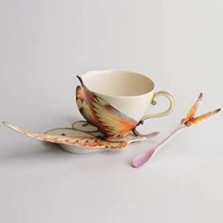 Franz Porcelain Papillon Butterfly Cup Saucer & Spoon