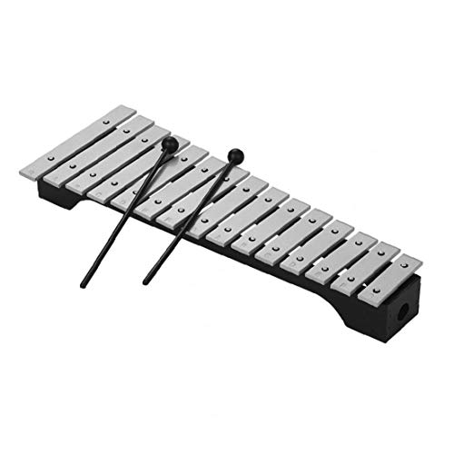 lujiaoshout 15-Note Xylophone Glockenholzsockel Aluminiumbarren mit Schlägel Percussion Musikinstrument Geschenk mit Tragetasche
