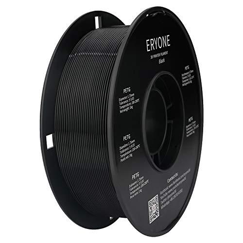 Filament PETG 1,75 mm Schwarz, ERYONE PETG Filament For 3D-Drucker und 3D-Stift, 1 kg 1 Spool