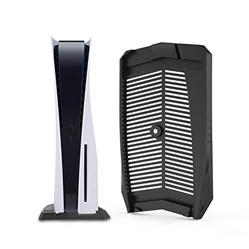 Keten Soporte Vertical PS5 para Playstation 5 con Ventilación Incorporada para Refrigeración y Pies Antideslizantes, Consola Playstation 5 Especialmente Diseñada (Negro)