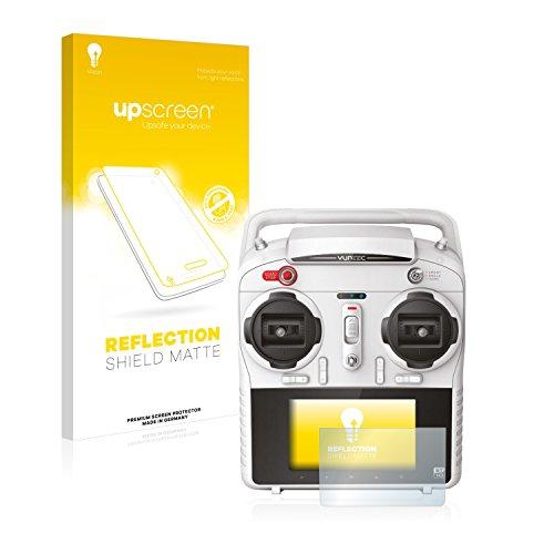 upscreen Entspiegelungs-Schutzfolie kompatibel mit Yuneec ST10 (inkl. umliegender Fläche) – Anti-Reflex Displayschutz-Folie Matt