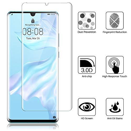 K&L LK 3 stück Schutzfolie für Huawei P30 Pro, (6.5 Zoll) [ Fingerabdruck-ID unterstützen] Displayschutzfolie Anti-Bubble [Kompatibel mit Handyhülle] HD Klar Folie - 6