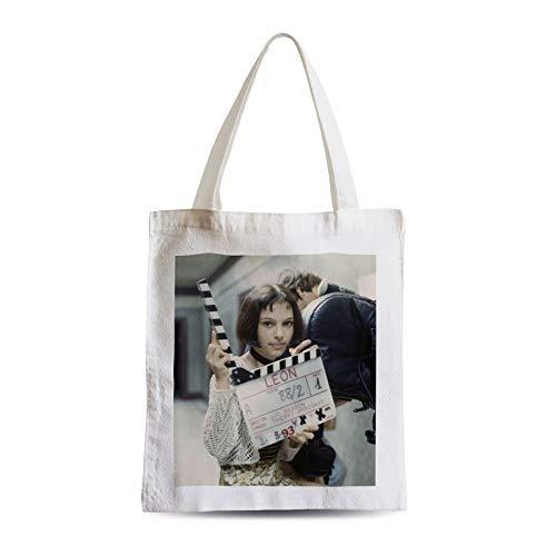 Big Canvas Tot Shopper Bag Natalie Portman Young Leon Cinema Star Actress