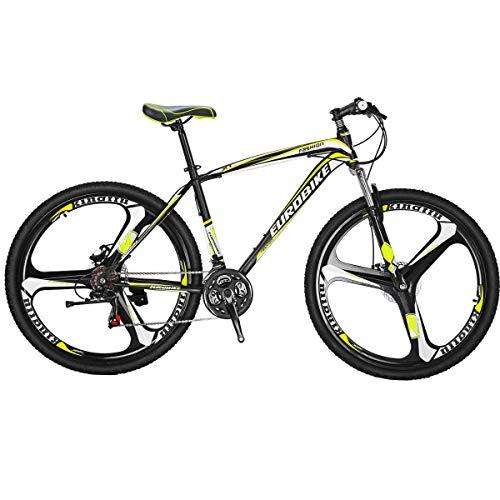 Eurobike EURX1 27.5 Inch K Wheel Mountain Bike 21 Speed MTB Bicycle Suspension Fork Mountain Bicycle Blackyellow