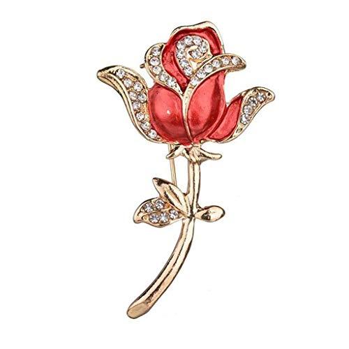 SSMDYLYM Ojal Rose broches de Cristal Accesorios de Traje de Novio de la Novia de Dama de Honor de Dama de Baile Hecha a Mano Buen Regalo para