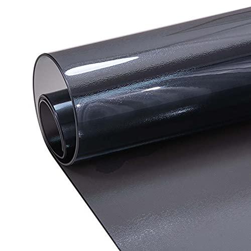 HJRD Protector de Mesa en plástico Transparente,1.5 MM Negro Transparente Protector de Pantalla,Ideal para la Cocina,para el Comedor,Tapete Protector con Borde Duros(Size: 100x170cm/39.37x66.93in)