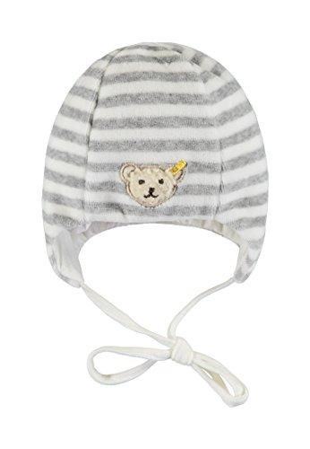 Steiff Unisex Baby Nicky Mütze, Weiß (y/d Stripe|Multicolored 0001), 45