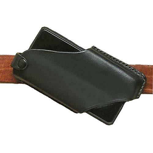 Handy Leder Gürtel Packtasche, ultradünne Gürteltasche Smartphone Holster Tasche mit Magnetverschluss, für Männer Sport Travel Camping (schwarz)