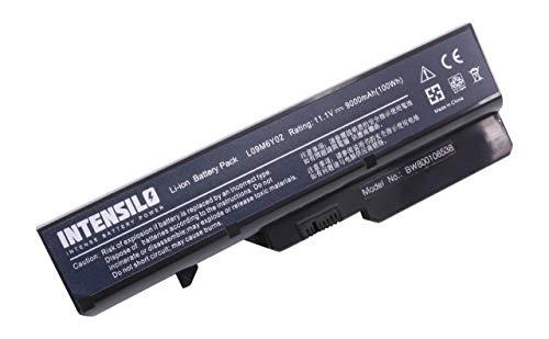 INTENSILO Batería Li-Ion 9000mAh (10.8V) portátiles Lenovo IdeaPad G565A, G565G, G565L, G570, G570A sustituye L09M6Y02, 121000935, 57Y6455.