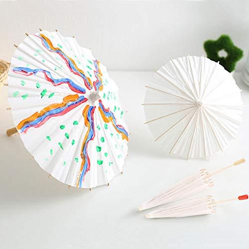 Brrnoo Papier-Regenschirm, reinweiß, handgefertigt, Dekoration, geeignet für Hochzeitszeremonie, Photo Art Shooting Dekoration (30 cm)