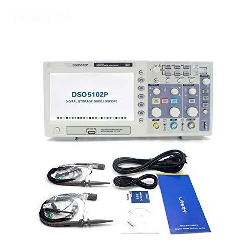 SISHUINIANHUA Digitaloszilloskop DSO5102P Tragbares 100-MHz-2-Kanal-1GSa / s-Aufzeichnungslänge-40K-USB-Handoszilloskop