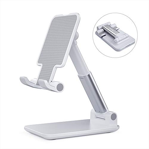 Adjustable Cell Phone Holder, Essager Foldable Tablet Stand Mobile Phone Mount for Desk Compatible with Samsung Galaxy ipad Mini iPhone X Xr Xs max All Smartphones