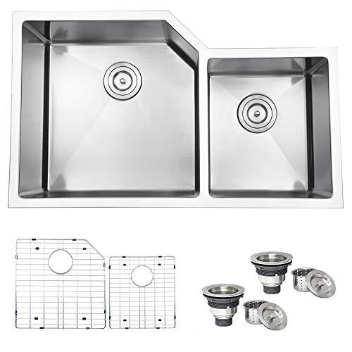 Ruvati 33' Undermount 16 Gauge Double Bowl Kitchen Sink - RVH8150