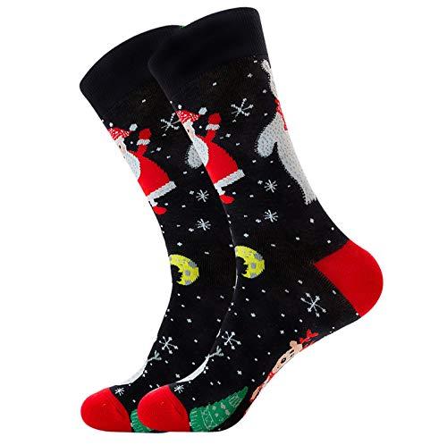 Realde Weihnachtssocken, Weihnachten Socken Festliche Socken Baumwollsocken, Winter Warm Socken für Damen Herren Kinder, Weihnachten Geschenk