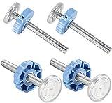 Paquete de 4 varillas de husillo roscadas montadas a presión M10 para puertas de bebé, kit de tornillos para puertas de seguridad de bebé, mascotas, puerta de escalera (azul)