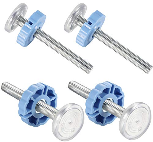 4 Pack Pressure Mounted Baby Gates Threaded Spindle Rods M10 Walk Thru Gates Accessory Screw Bolts Kit for Baby Safety Gates Pet Dog Gate Stair Gates(Blue)