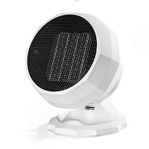 CYFCXK Calefactor Cerámico 2000W Mini Ventilador de Calentacdor Eléctrico contra Sobrecalentamiento y Protección contra Volcado Viento Natural o Caliente para Oficinas y Hogar,White