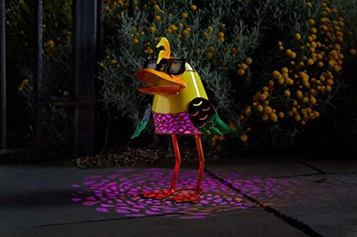 Wunderschöne Metall Garten Deko Figuren Solar Tiere mit LED Beleuchtung und Lichtsensor | wunderschöne Garten Dekoration mit Solar LED Leuchten (Ente)