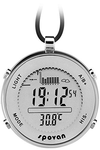 Taschenuhr Digital Sportuhr Höhenmesser Altimeter Barometer Thermometer Angeln Outdoor Quarzuhr
