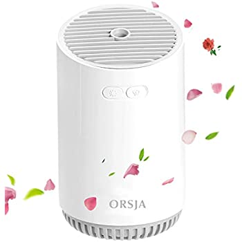 ORSJA Wireless Humidifier 320ml with Colorful LED Night Lights, USB Rechargeable Mini Quiet Air Humidifiers with 12 Working Hours for Bedroom,Baby Room,Car,Office