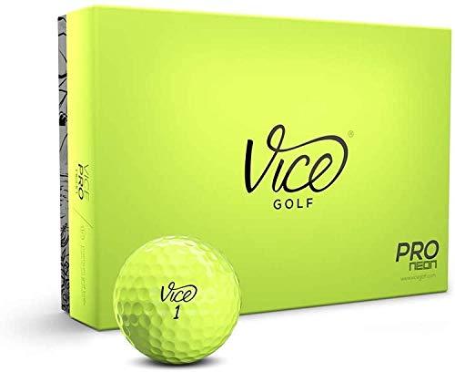 Vice Pro Golf Balls , Lime , 1 Dozen (Deluxe/Lime)