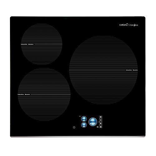 CATA IDB 6003 Pro BK Plaque à induction en verre et acier inoxydable 1200 W 18 cm 2300 W