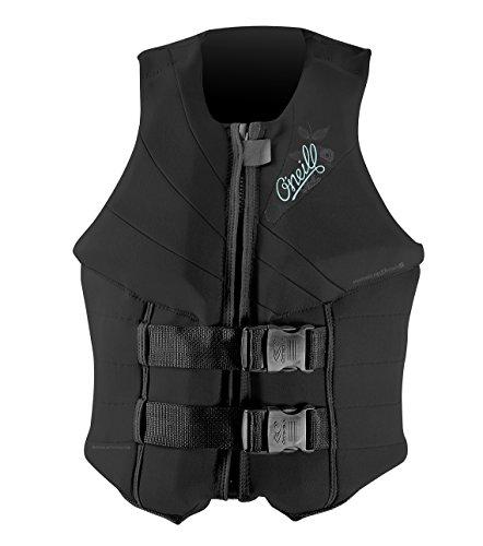 O'Neill Women's Siren USCG Life Vest, Black/Black/Black, 8