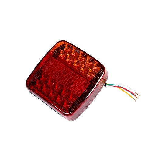 ETUKER Pilotos LED Remolque, 12V Impermeable Universal Piloto Trasero Remolque Luces de Freno Traseras Con Lámpara De Matrícula, Para Camión/RV/Caravana/Luces Remolque Traseras (Bombillas 20 LED)