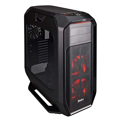 Corsair Graphite 780T Case da Gaming, Full-Tower ATX, Finestra Laterale con Due AF140 Rosso LED Ventole, Nero
