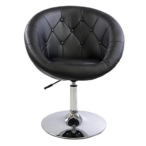 Impressions Antoinette Round Tufted Vanity Chair with 360 Degree Swivel, Modern Makeup Seat with...