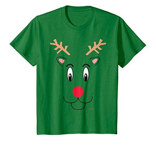Kids Santa's Reindeer Christmas T Shirt for Men, Women and Kids 8 Kelly Green
