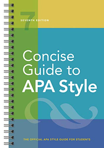 CONCISE GT APA STYLE 7/E: Seventh Edition (Newest, 2020 Copyright)